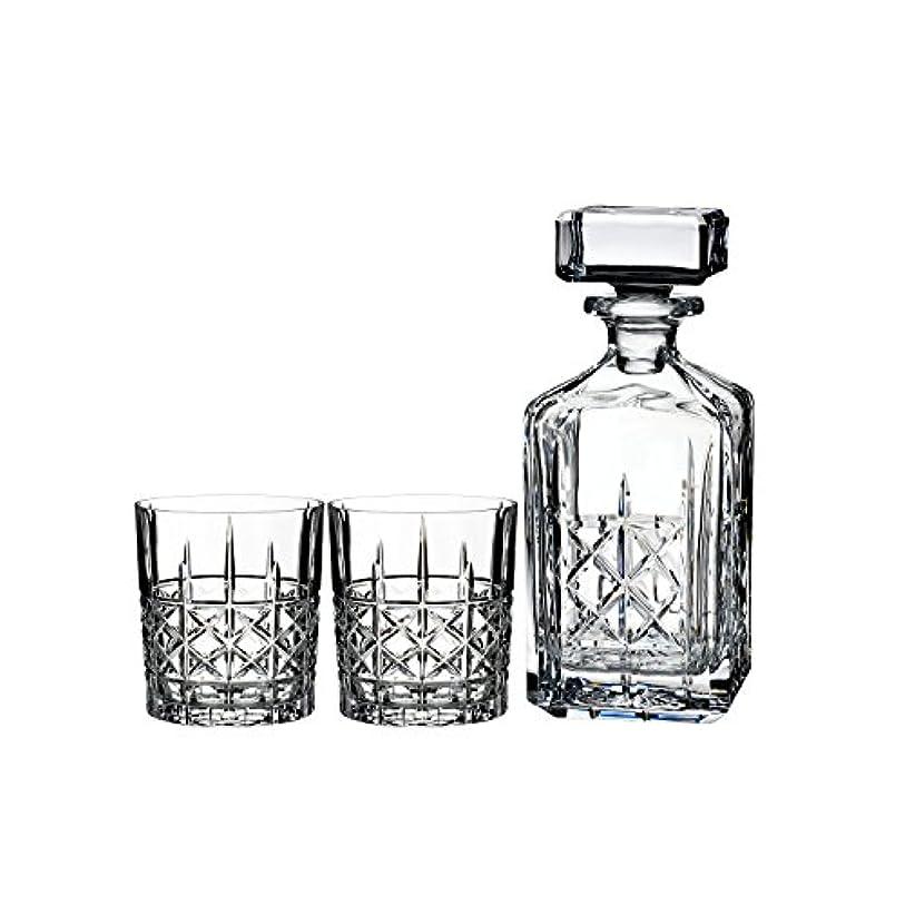つぶやきビジョンセントMarquis by Waterford Brady Decanter Set with Two Double Old Fashioned Glasses by Waterford