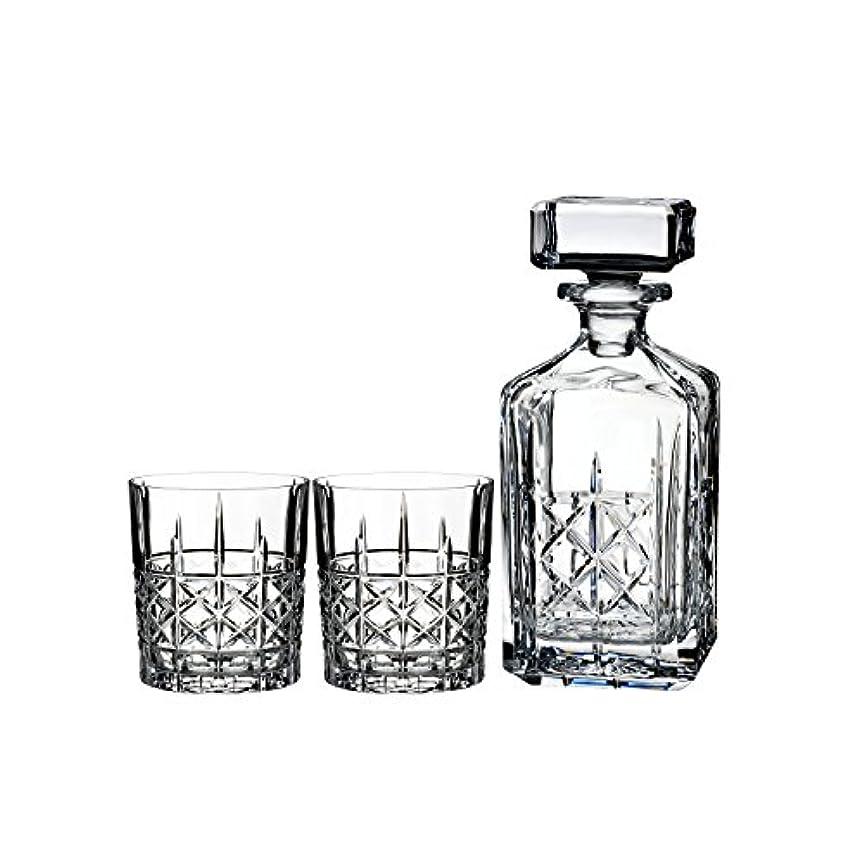 運営根絶する険しいMarquis by Waterford Brady Decanter Set with Two Double Old Fashioned Glasses by Waterford