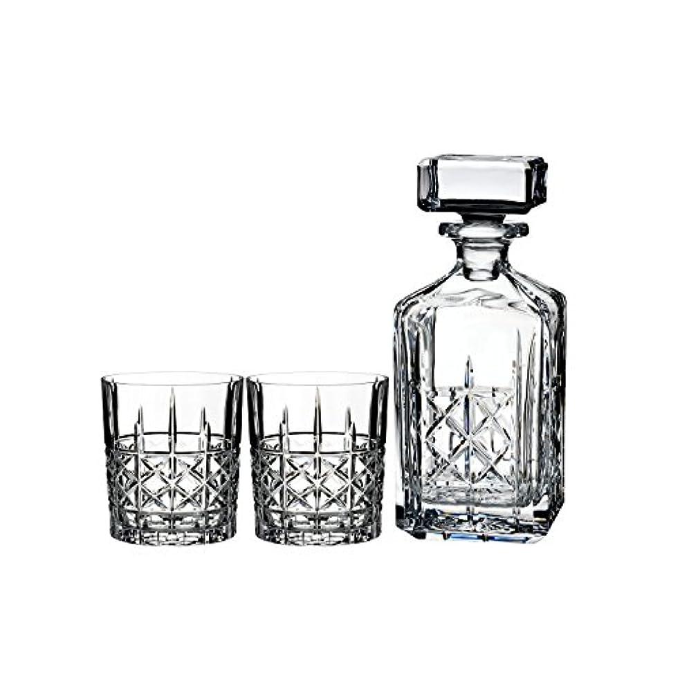 耐久好みヶ月目Marquis by Waterford Brady Decanter Set with Two Double Old Fashioned Glasses by Waterford