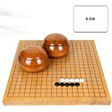 RACHELLE Yunzi Go チェスセット 無垢材彫刻 両面チェスボード 無垢材タンク付きニューユンジ (カラー:B サイズ:3cm)