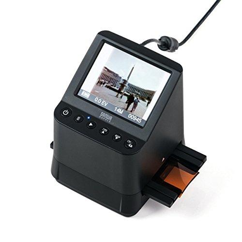 サンワサプライ フィルムスキャナー デジタル化 高画質 35mmフィルム 110フィルム 126フィルム スライドフィルム SDカード保存 1400万画素 モニタ付き 400-SCN055