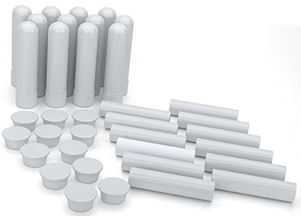 分離する聴衆タクシーEssential Oil Aromatherapy Blank Nasal Inhaler Tubes (12 Complete Sticks), Empty White Vapor Inhalers w/Wicks...