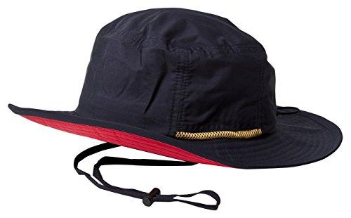 ベーシックエンチ 帽子 Teflon Safari Hat(テフロンサファリハット) メンズ レディース (フリーサイズ(57-59cm), ネイビー(ツバ裏:レッド))
