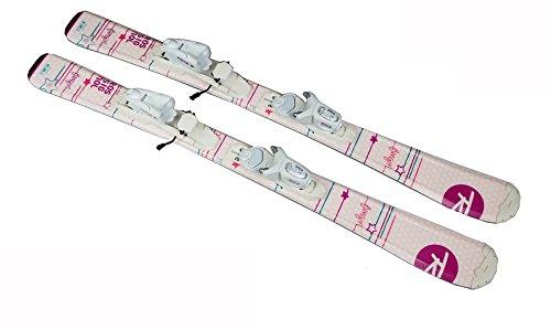 [해외] 7로시뇰(Rossignol) ROSSIGNOL 여자 걸즈 쥬니어 초심자용 스키2점 세트「FUN GIRL팬 걸」+금속장식KID-X (130)-17ROHEROJRKID