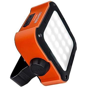 Aughtdom LED投光器 LED作業灯 充電式 ハイキング 釣り 車修理 写真撮影 キャンプ オーバーランド 作業灯 ポータブル 充電式 非常用ライト パワーバンク オレンジ