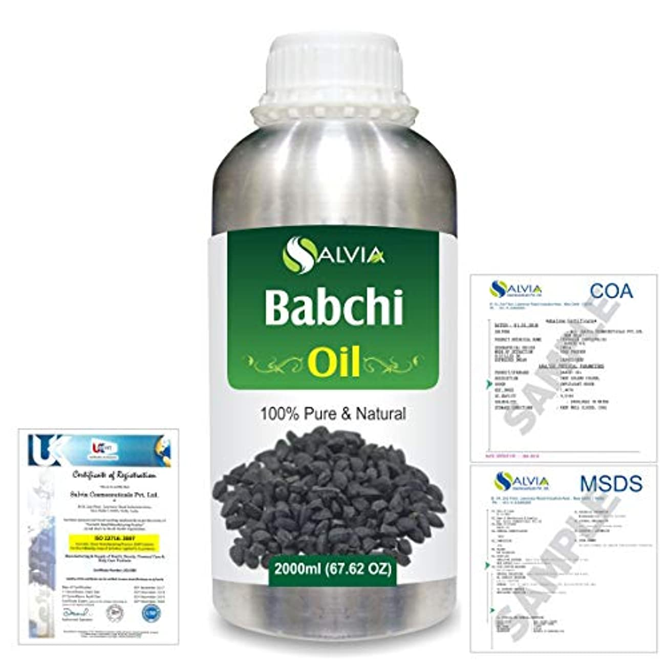 検索エンジン最適化遅れ警察Babchi (Psoralea Corylifolia) 100% Pure Natural Oil 2000ml/67 fl.oz.