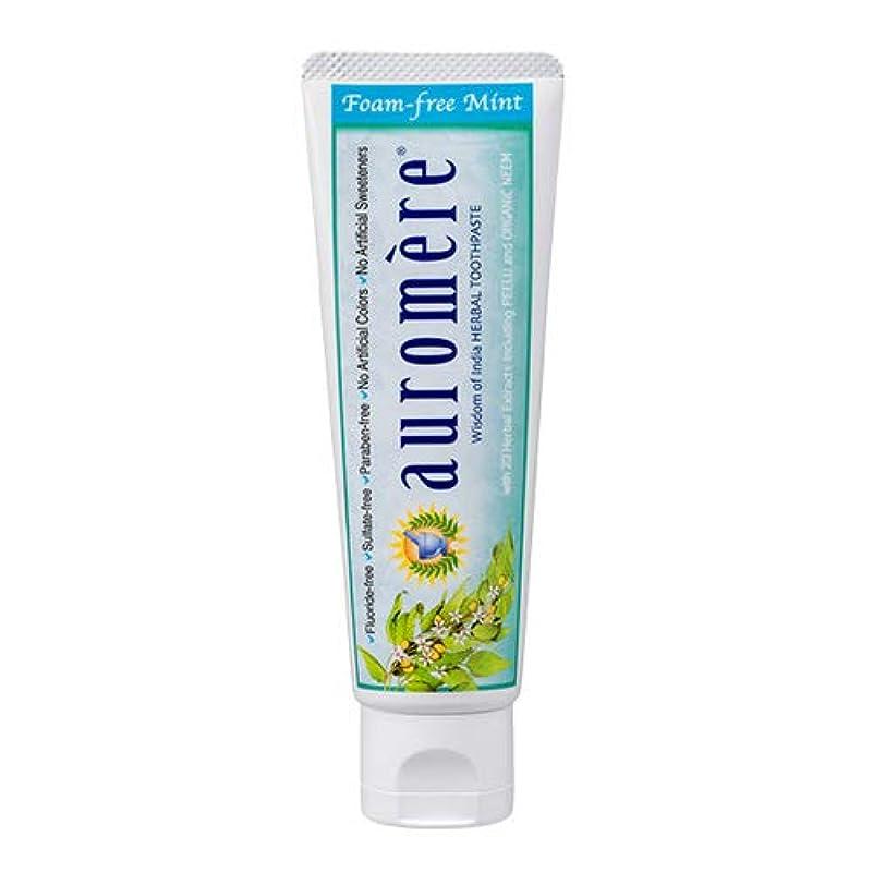 放射性甘くするしなやかオーロメア 歯磨き粉 フォームフリーミント 70g