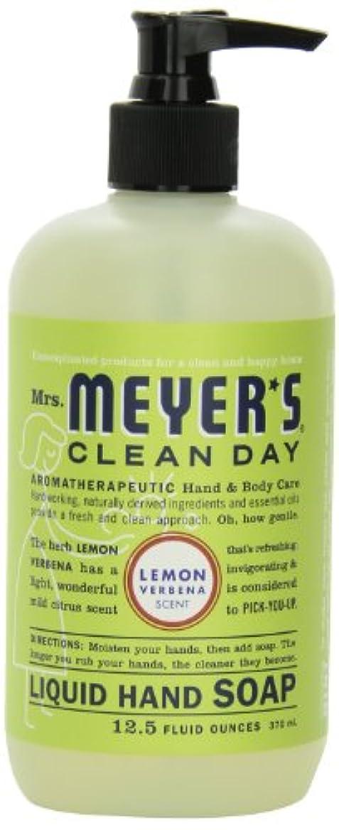 ティーム市長手紙を書くMrs. Meyer's Clean Day Liquid Hand Soap, Lemon Verbena, 12.5 Fluid Ounce Bottles (Case of 6) by Mrs. Meyer's Clean...