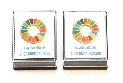 【ALEC】 SDGs ピンバッジ 最新使用 台紙あり ケース付き 国連本部限定販売 日本未発売 2個セット 正規品