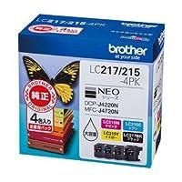 ブラザーインクカートリッジ 4色パック大容量 LC217/215-4PK ds-1864942