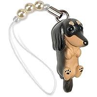ペットラバーズ 犬種 Dog 92 Dachshund ダックス ブラックタン ビーズ ストラップ DN-3003