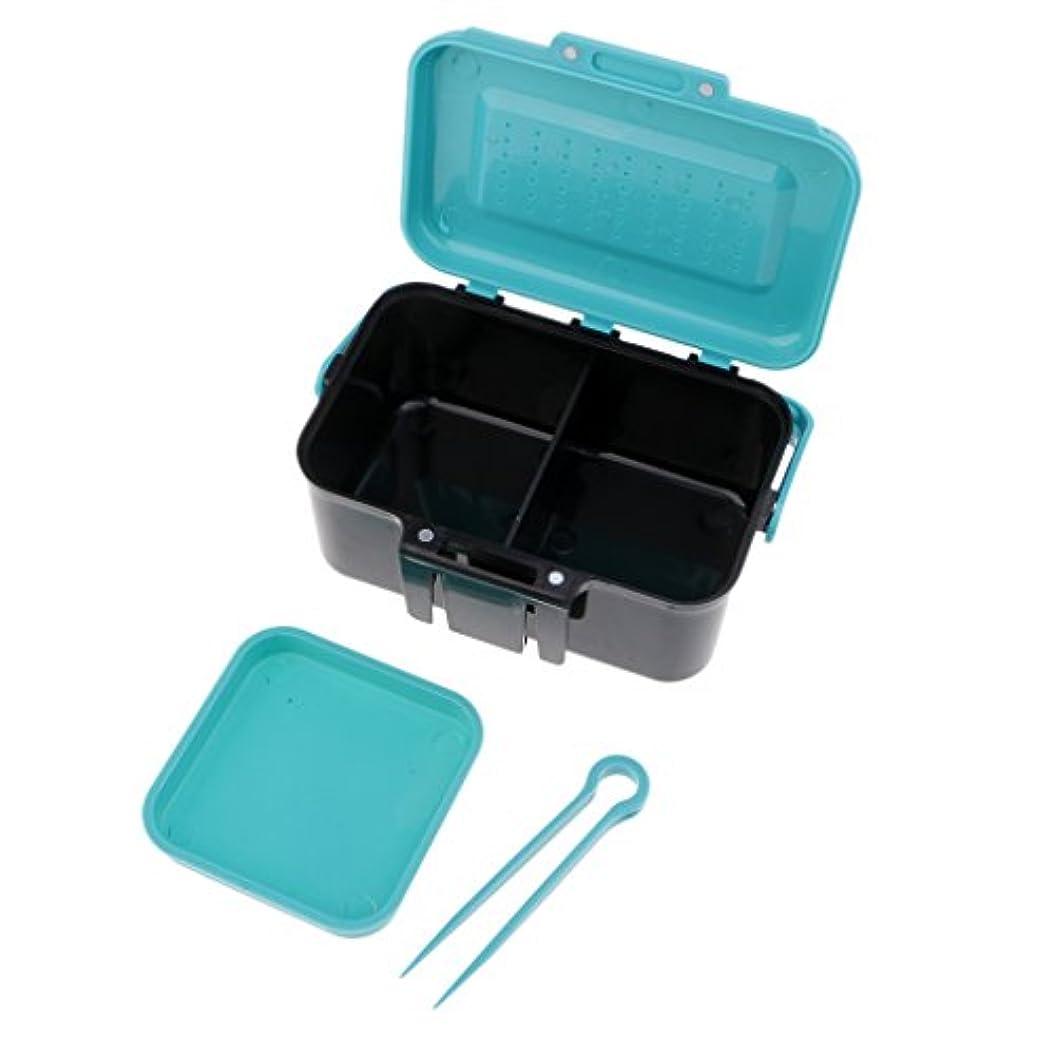薬理学つぶやき出演者SunniMix タックルボックス 釣りケース ルアー収納 蓋 通気孔 ハンドル付き 新鮮餌 空気流れ 持ち運び 高品質
