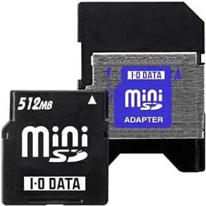 アイ・オー・データ機器 miniSDカード&miniSDアダプターセット品 512MB SDM-512M/A