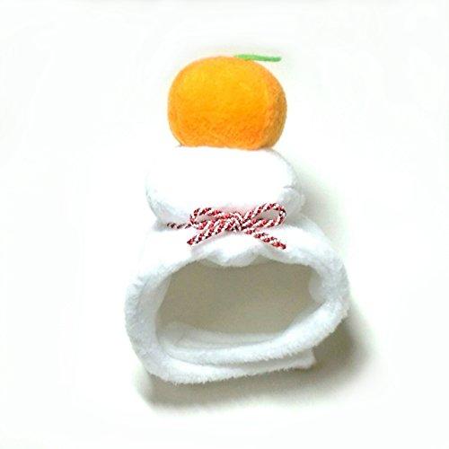 犬猫用コスプレ 鏡餅のかぶりもの(帽子) (M:27~33cm)