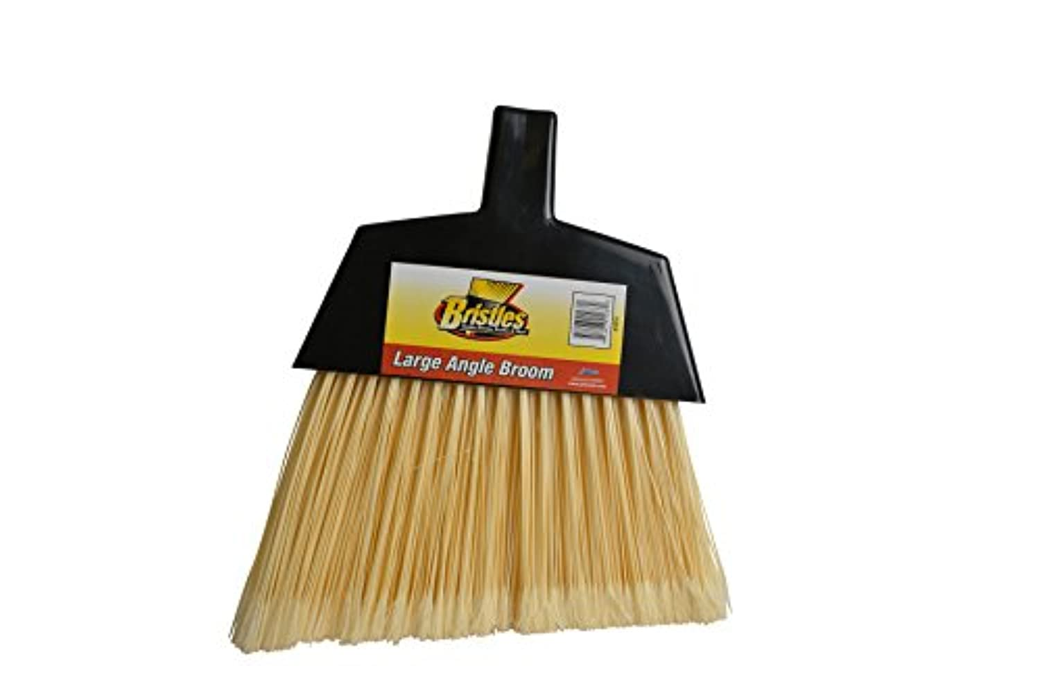 Janico 4050 48 in. Large Angle Broom Poly Bristles Metal Handle, Black - Case of 24