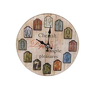 パール金属 卓上 ガラス 時計 置時計 掛け時計 兼用 ROUND 17cm 13S1402 N-8186