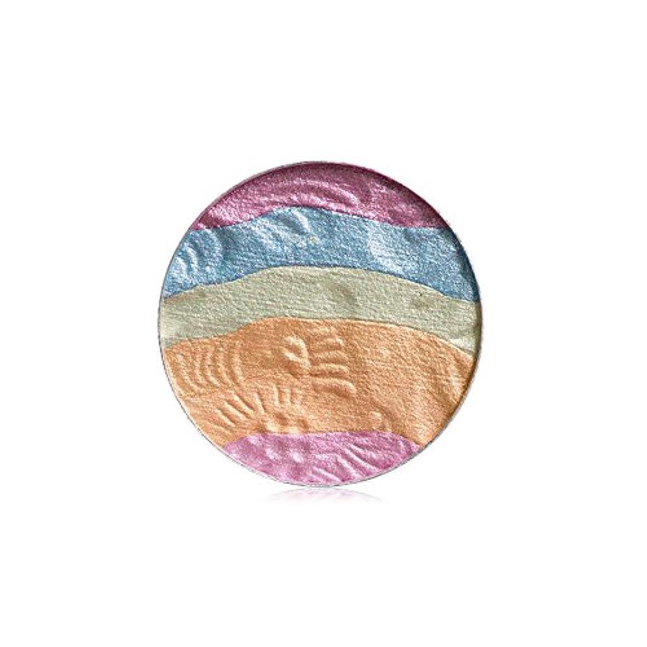 平野怪しい虐殺自然な専門のアイシャドウの粉の虹のきらめきの構造の美の影
