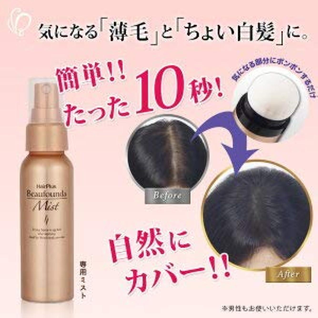 インタフェーススピン過度に女性用増毛パウダー ヘアプラス ビューファンデ ミスト 定着スプレー 薄毛隠し 白髪隠し