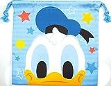 ティーズファクトリー ランチ巾着 ドナルドダック H20×W20cm ディズニー フラットランチ巾着 フェイス DN-5533245DO