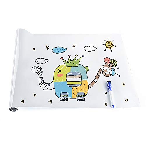 Rabbitgoo ウォールステッカー ホワイトボード シート 壁に貼れる 剥がせる 貼り付け簡単 黒板シート ホワ...