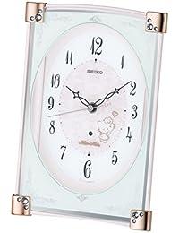 セイコー クロック 置き時計 ハローキティ ハイライン 電波 アナログ 薄ピンク パール CS201P SEIKO