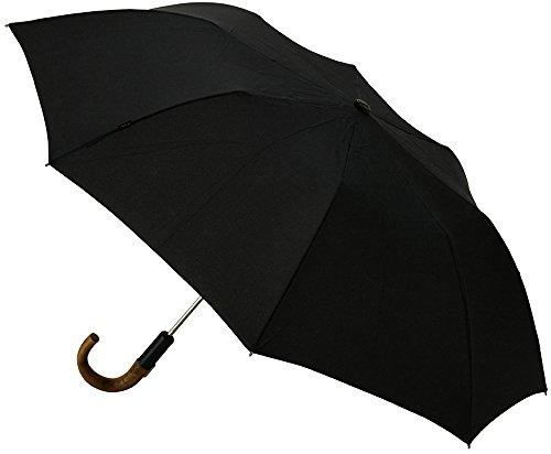 Knirps 折りたたみ傘 ワンタッチオープン 【正規輸入品】 ウッドハンドル Topmatic SL Black KNS828-710