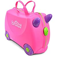 TRUNKI 子ども用 スーツケース キャリーバッグ 乗って遊べる 機内持ち込み 旅行 おもちゃ箱 収納 ライドオン・トランキ/トリキシーピンク WLTR0061