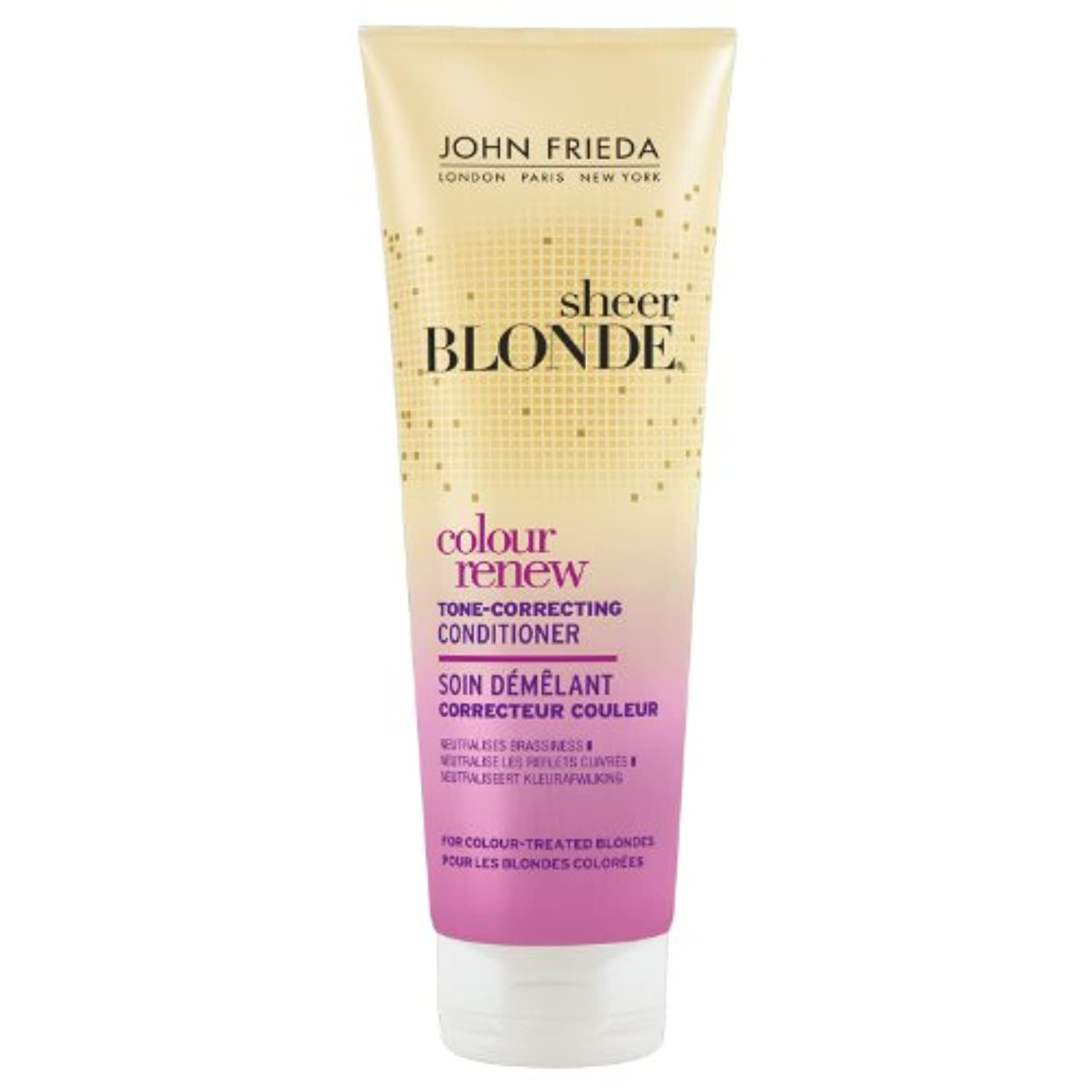大惨事食品閃光John Frieda Sheer Blonde Colour Renew Conditioner 250ml