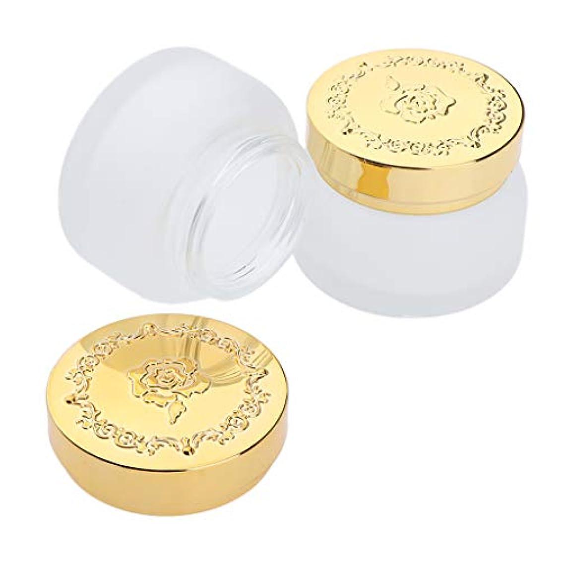 石鹸天のメンター2個 メイクアップジャー ガラス クリームジャー 手作り コスメ 化粧品 詰め替え容器 2サイズ選べ - 50g