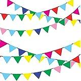 三角旗 ガーランド カラフル イベント旗 運動会 体育祭 誕生日 お祭りデコレーション 店舗装飾 80m 150枚