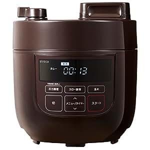 siroca 電気圧力鍋 SP-D131 ブラウン[圧力/無水/蒸し/炊飯/スロー調理/温め直し/コンパクト]
