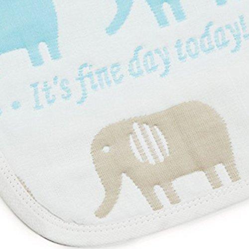 バンビノ 8重 ガーゼ おくるみ スワドル オーガニックコットン 男の子 女の子 寝冷え知らず 出産祝い 便利な帯付き (85×85, 象さん)