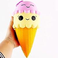22 cm電話ストラップ装飾Squishy Slow Rising Kids PUシミュレーションdouble-headed Smiley IceクリームToy ( 2パック)