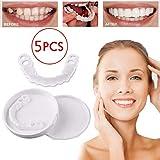 インスタント快適なフレックスパーフェクトベニアの歯のスナップキャップを白くする6個の一時的な歯,5pcslowerteeth