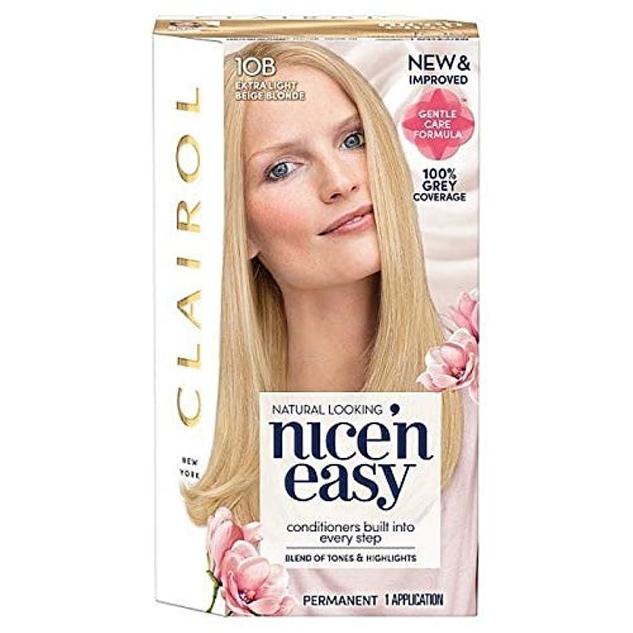 スパンに対処する順応性のある[Nice'n Easy] Nice'N簡単10Bは余分なライトベージュブロンド - Nice'n Easy 10B Extra Light Beige Blonde [並行輸入品]