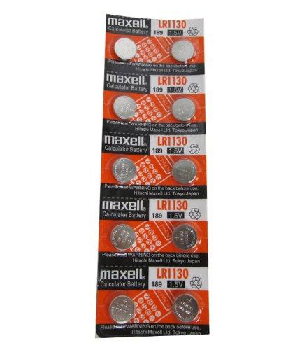FJK マクセル(maxell)アルカリボタン電池 LR1130(10個組)