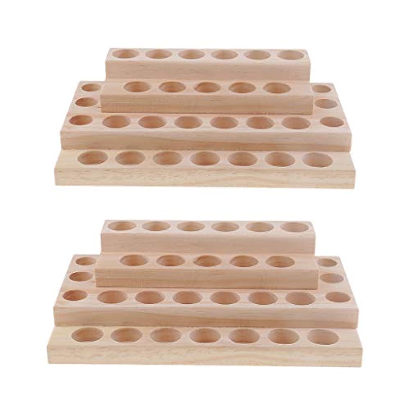 大洪水ピアフィットdailymall 2個入り エッセンシャルオイル ケース 木製 精油ケース ホルダー 大容量 アロマケース 30本用
