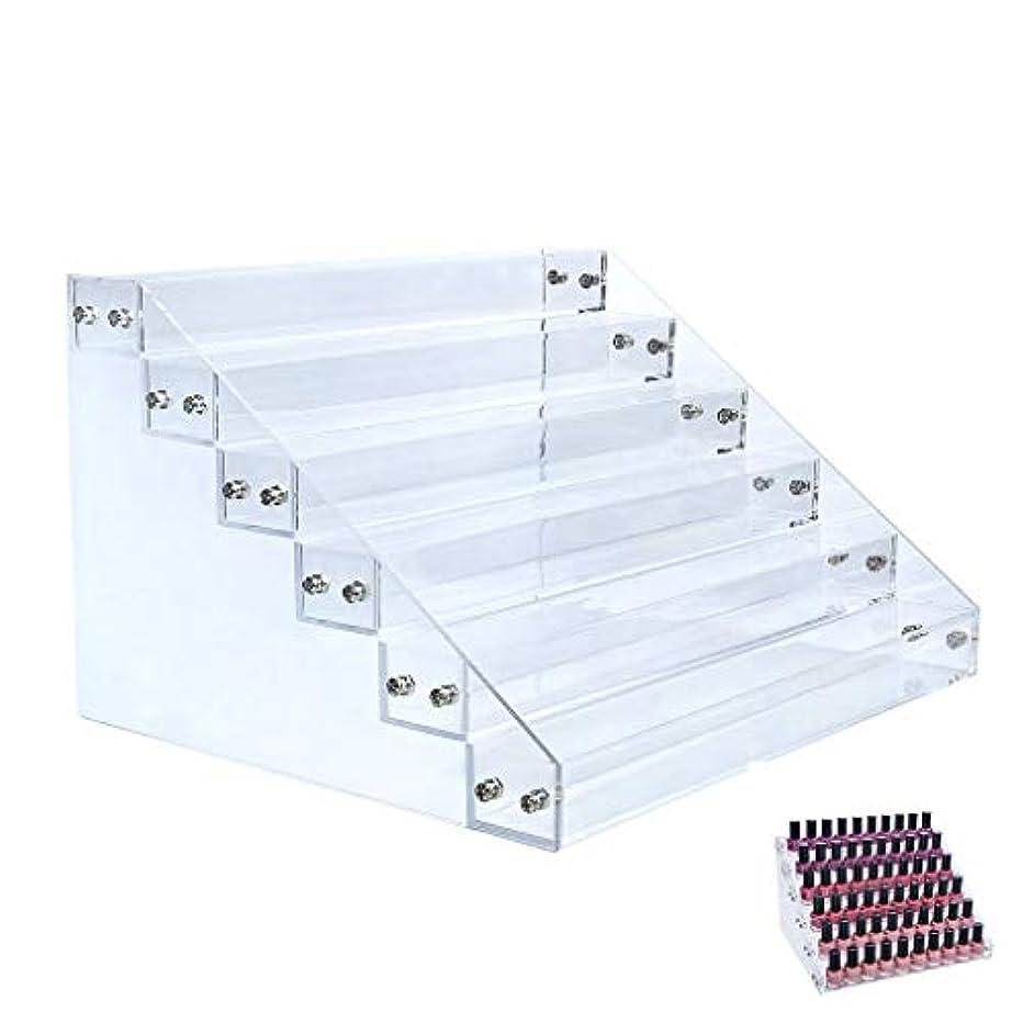 そこ広告するチャンバーFloratek マニキュア スタンド 収納ケース ホルダー 大容量 透明アクリル 強い耐久性 ネイルカラー 収納ケース 口紅収納スタンド コスメ収納 アクリルケース レディース 6層