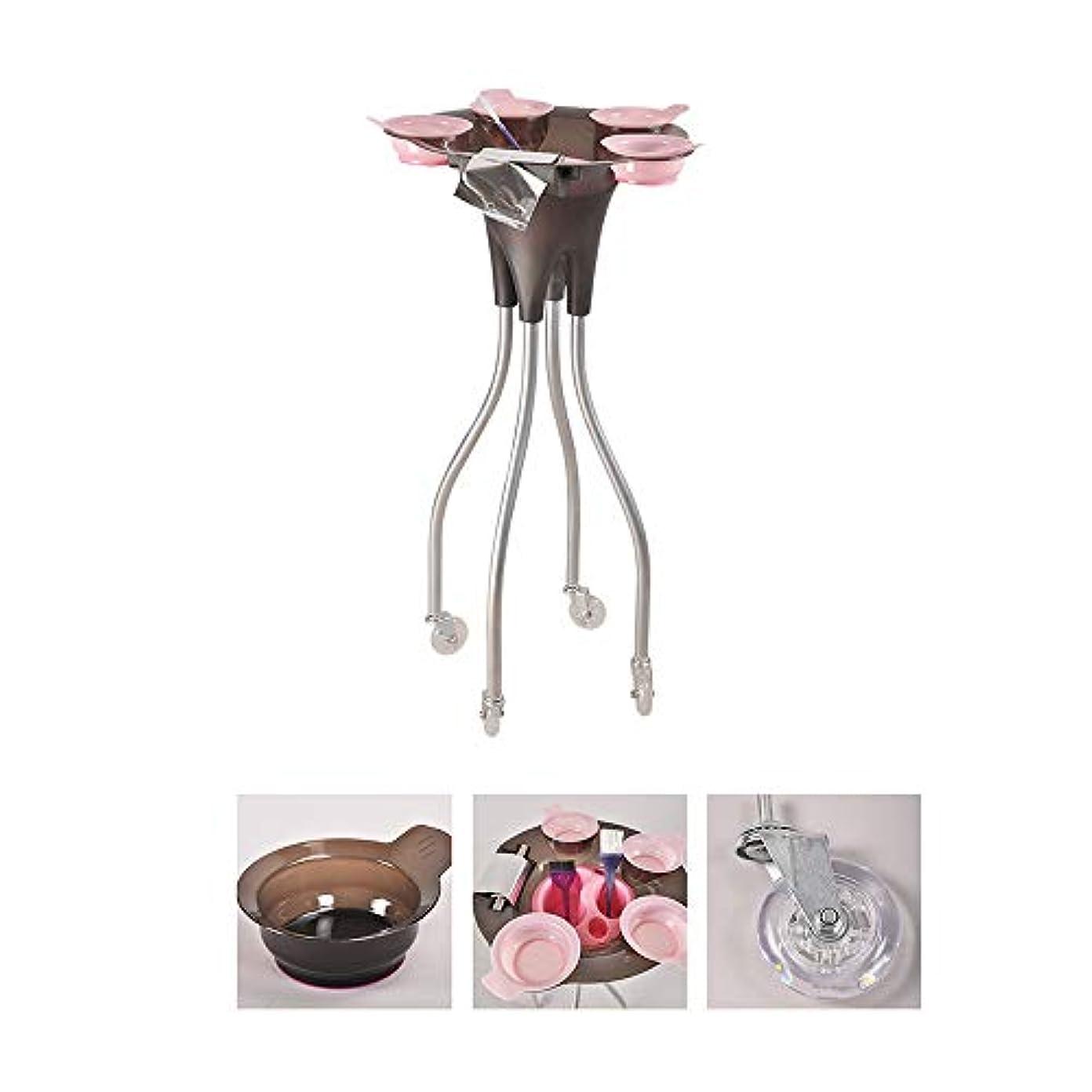 形式シャッター小康4つの車輪が付いている大広間の美容院のトロリー、毛色の染料のボールが付いている美の皿の携帯用実用的なカート、SPAの貯蔵の毛の付属品のホールダー
