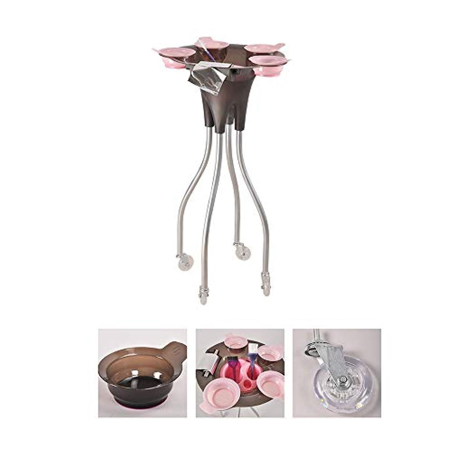 家具耐える企業4つの車輪が付いている大広間の美容院のトロリー、毛色の染料のボールが付いている美の皿の携帯用実用的なカート、SPAの貯蔵の毛の付属品のホールダー