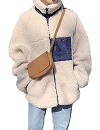 Jomiss ボアジャケット ボアブルゾン レディース アウトドア 羽織り 長袖 防寒 ふわもこ コート 胸ポケット あっ たか
