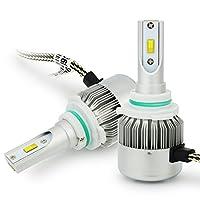 車用 9006 LED ヘッドライト 7200ルーメン HB4 高輝度 Philips CHIP搭載 LEDバルブ ホワイト DC 12V 新発売12ヶ月保証 C6F-9006