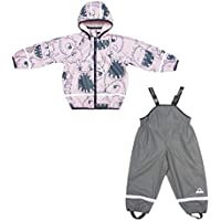 Orline-pro Boys & Girls Kids Raincoat Jacket with Pants Waterproof Reflective Children Rainwear Set (203700)