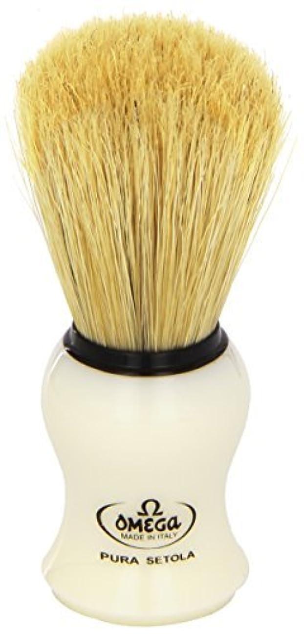 雪だるまヒューム内なるOmega #10066 Shaving Brush Mock Ivory Handle [並行輸入品]