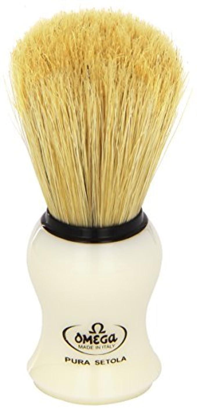Omega #10066 Shaving Brush Mock Ivory Handle [並行輸入品]