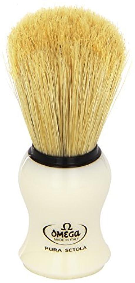 シフト引き付ける貢献Omega #10066 Shaving Brush Mock Ivory Handle [並行輸入品]