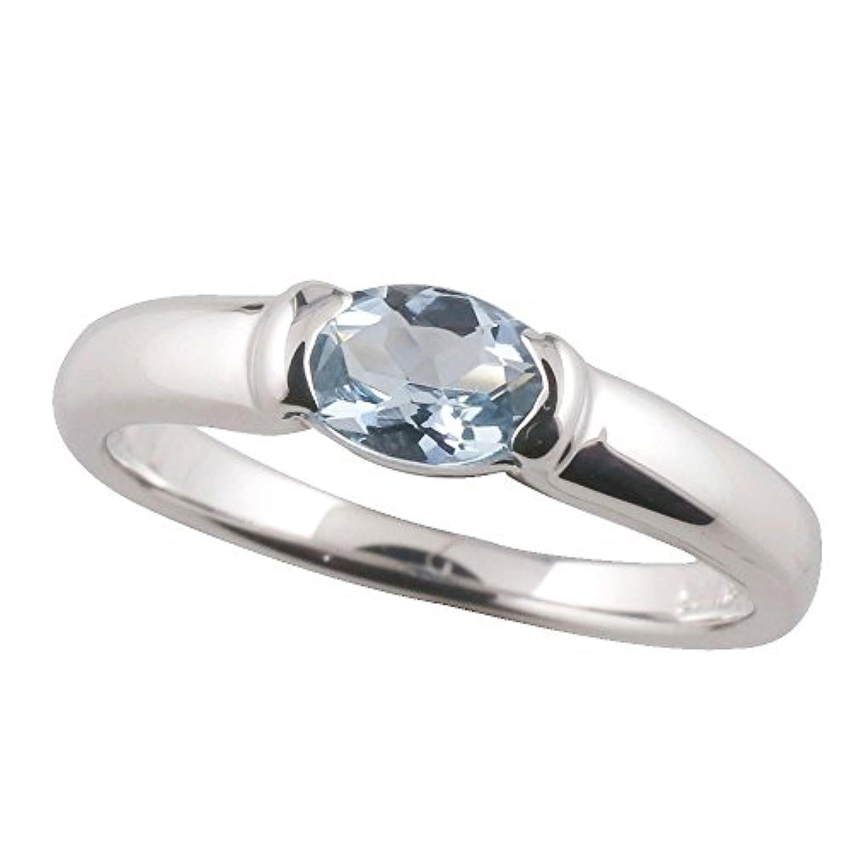 [アトラス] Atrus アクアマリン アクア リング シルバー925 シルバージュエリー 3月誕生石 指輪 11号
