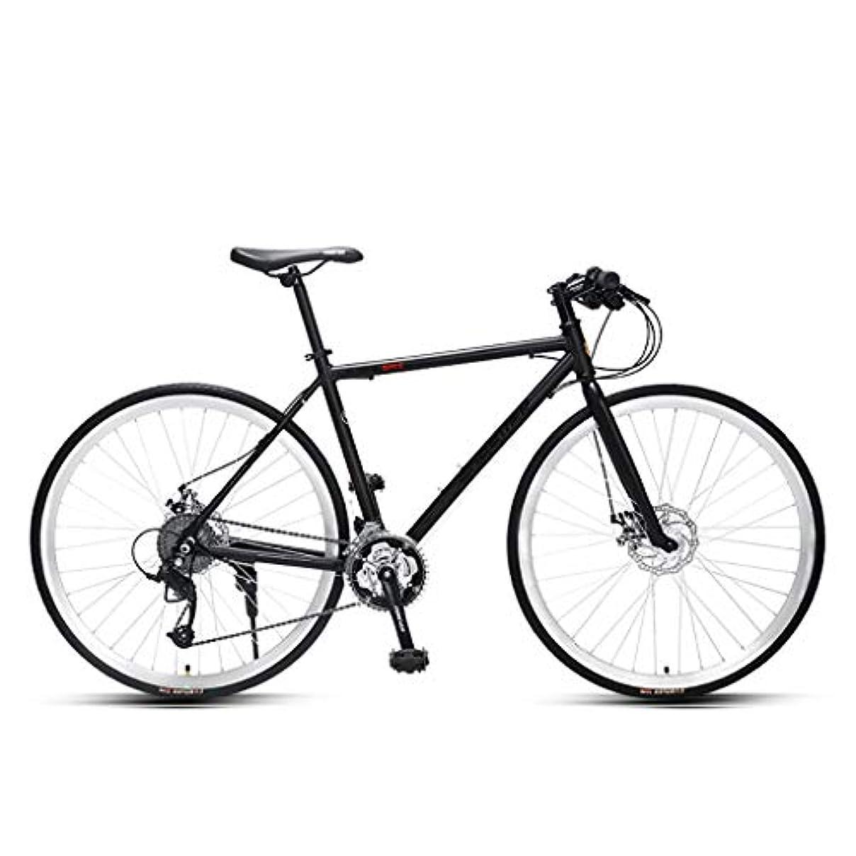 アーサーコナンドイル過言望む27スピードロードバイク、ウルトラライト可変速自転車、ブラック/シルバー、700C * 28Cマウンテンバイク ZYYZXC (Color : Black3)