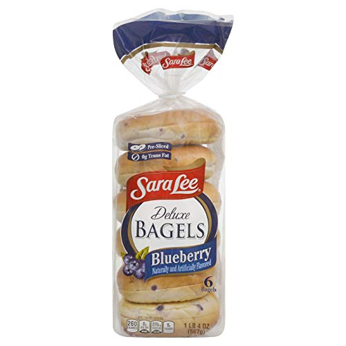 Sara Lee Deluxe Bagels Blueberry サラリーデラックスベーグルブルーベリー560g [並行輸入品]