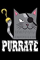 Purrate: Cat Notebook to Write in, 6x9, Lined, 120 Pages Journal